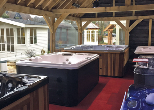 Hydropool Staffordshire indoor showroom