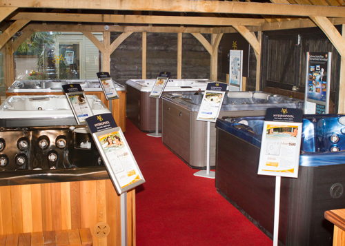 Hydropool Staffordshire showroom