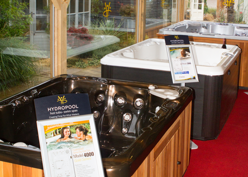 Hot Tubs at Hydropool Staffordshire showroom