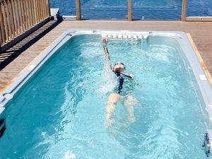 Try out our swim spas!